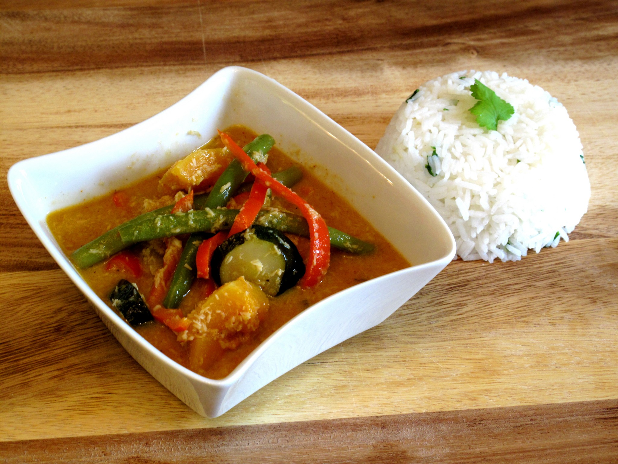 butternut squash courgette vegetarian thai red curry
